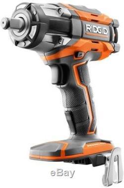 RIDGID Impact Wrench Kit GEN5X 18V 4-Mode Cordless Brushless Battery Charger