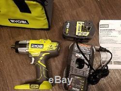 RYOBI 3-speed 18V 1/2 Cordless Impact Wrench Kit 4Ah Battery Charger Bag P1833