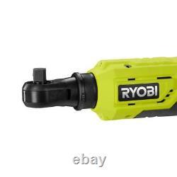 RYOBI Combo Kit 18-Volt Impact Wrench Ratchet Lithium-Ion Cordless LED Light