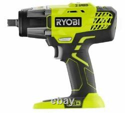 RYOBI ONE+ 18V Cordless 3-Speed 1/2 Impact Wrench Kit, Battery + Charger P261K