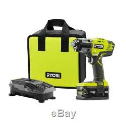 RYOBI ONE+ 1/2Impact Wrench Kit Lithium Ion Cordless p1833 4 AH Battery Charger