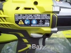 RYOBI P261 3-speed 18V 1/2 cordless impact wrench kit w Bag. Brand New w box