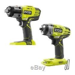 Ryobi 18V ONE+ Cordless 1/2 Impact Wrench & 3/8 Impact Wrench Bare Tools