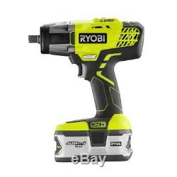 Ryobi Impact Wrench 18-Volt Lithium-Ion Cordless 3-Speed LED Light