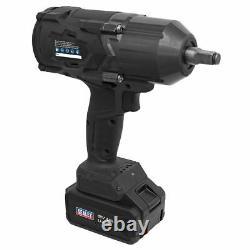 Sealey CP1812 Cordless Impact Wrench 18V 4Ah Li-ion 1/2Sq Drive 1000NM