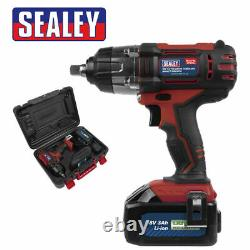 Sealey Cp400li 18v Lithium-ion 1/2 Cordless Impact Wrench 3ah Battery In Case