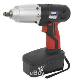 Sealey Tools 24V 1/2 Drive Cordless Impact Wrench Gun Nut Runner Ni-MH
