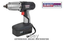 Sealey Tools CP2400 24V 1/2 Drive Cordless Impact Wrench Battery Gun 325lb