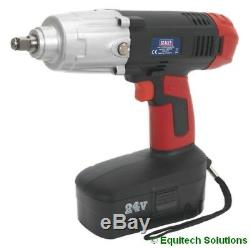 Sealey Tools CP2450MH 24V 1/2 Drive Cordless Impact Wrench Gun Nut Runner Ni-MH
