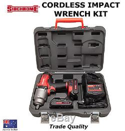 Sidchrome Cordless Impact Wrench Kit Trade Quality Tools Hd Gun Special