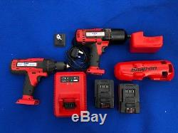 Snap On 18v 1/2 Cordless Monster LITHIUM Impact Wrench, Drill Set CTEU8850 8815
