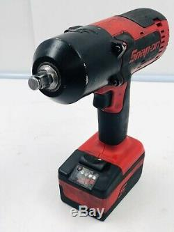 Snap On ct8850 cordless 1/2 18 volt impact wrench Withbattery and charger