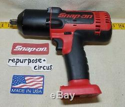 Snap-on CT8850 18 Volt 1/2 Drive Lithium-ion Cordless IMPACT WRENCH/GUN Red