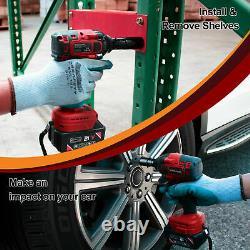 Toolman Cordless Brushless Motor Lithium-ion Power Impact Wrench kit 1/2 20V