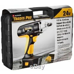 Trades Pro 24 Volt Cordless Impact Wrench, 1/2 Drive, 240 ft-lbs, 837212