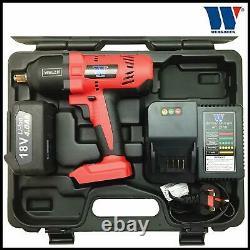 Welzh Werkzeug 1/2 Impact Wrench Cordless Rechargeable 982NM 18V 4.0AH LI-ION